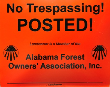AFOA Posted Signs - Help prevent trespassing on your forestland